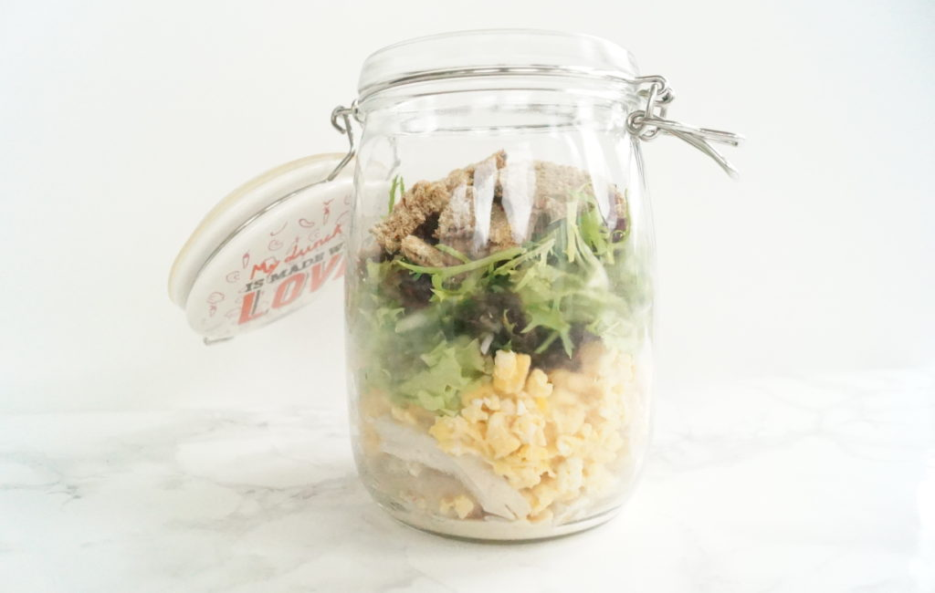 On a Healthy Adventure Salad in a jar 1
